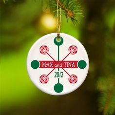 Personalized Contemporary Classic Christmas Ornaments!