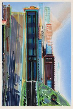Thiebaud's Hill Street (1987)  Collection, Saint Mary's College Museum of Art, Moraga, CA