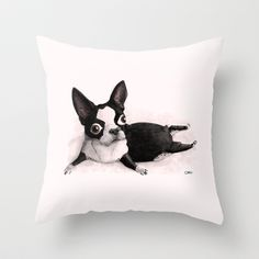 Buy The Little Fat Boston Terrier by Caro Bernardini as a high quality Throw Pillow. Worldwide shipping available at Society6.com. Just one of millions of…