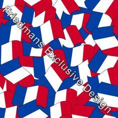 RUB334 FLAG OF FRANCE | Digital Print | Lycra Fabrics | Stretch Fabrics | Dancewear Fabrics | Swimwear Fabrics