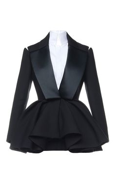 $20635 Smoking Peplum Jacket by Dice Kayek for Preorder on Moda Operandi