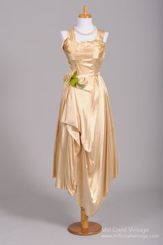 1950 Liquid Silk Vintage Wedding Dress