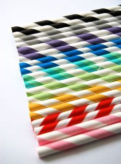 50 Assorted Paper straws