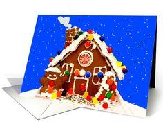 Gingerbread Gumdrop House, Seasons Greetings | Greeting Card Universe