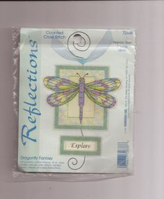 Reflections Dragonfly Fantasy NIP Sealed Counted Cross Stitch Kit 72638 #Reflections #Sampler