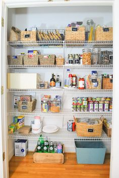 Organized reach in pantry