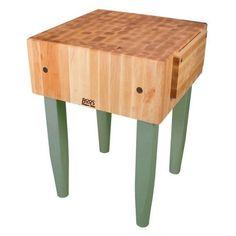 Gathering Block II X Butcher Block Table Basket Drawers - Boos gathering block ii 36x24 butcher block table 2 wicker basket