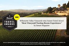 Willamette Valley Vineyards | Awarded Best Vineyard/Tasting Room Experience by Sunset Magazine  #OregonWine #WillametteValley #wine #vineyard Valley Vineyards, Willamette Valley, Tasting Room, Portland, Oregon, Magazine, Wine, Sunset, Travel