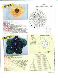 Mania-de-Tricotar: Florês em crochê!!!  http://mania-de-tricotar.blogspot.com.br/
