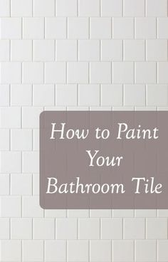 Tips and Tricks to painting bathroom tile: products, technique, etc. Painting Bathroom Tiles, Painting Ceramic Tiles, Diy Painting, Shower Tile Paint, Painting Over Tiles, Painting Tile Backsplash, Bathroom Tiling, Ceramic Tile Bathrooms, Painting Tile Floors