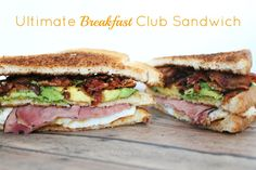 Ultimate Breakfast Club Sandwich. #TheTexasFoodNetwork #ChefPogue share your recipes with us facebook.com/TheTexasFoodNetwork