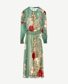 Image 8 of FLORAL PRINT FLOWING DRESS from Zara