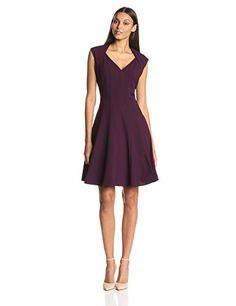6162294021 Amazon.com  Calvin Klein Women s Fit and Flare Dress