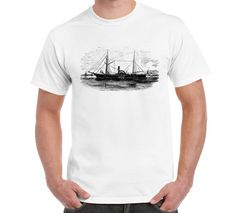 Steam Ship T Shirt Tees Sea River Mississippi by FreakyTshirtShop