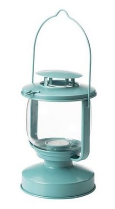 Turquoise Tiffany Blue Aqua Metal Vintage Style Lantern Candle Nautical Beach Theme Rustic | Recycled Bride