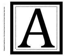 Printable Alphabet Letters A-Z | Letters To Make Party Banners