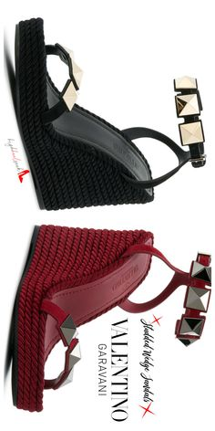 33284729a7bf These Luscious Studded Valentino Sandals Are A Summer Staple
