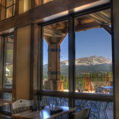 Take in the mountain views while enjoying happy hour on property. #Breckenridge #GrandLodgeonPeak7