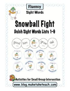 Fun fast paced sight word game for practicing the Dolch 220 sight words.