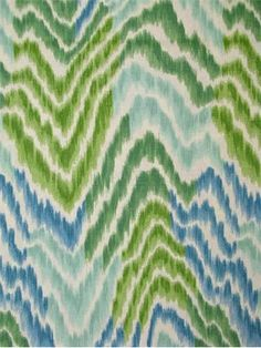 """Ebb and Flow Peninsula.  Tommy Bahama Fabric - Island Memories Collection. 100% cotton canvas ikat chevron print. Multi purpose home decorator fabric for drapery, upholstery, pillows, top of the bed or slipcovers. V 18"""" / H 9"""". Made in U.S.A. 54"""" wide."""