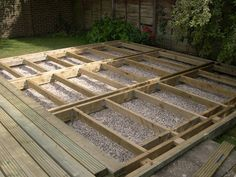 Deck joists beams low level deck - Q-Deck Top Decking Ideas - An Ode To a Beautiful Gar Ground Level Deck, How To Level Ground, Deck Framing, Low Deck, Deck Over, Deck Construction, Timber Deck, Wood Decks, Deck Plans