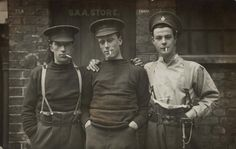 Life Guards S. Raper, Sidney Crockett and William H. Beckham, 13 September 1915 © Museum of London Christina Broom