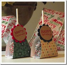 Christmas Cake Pops, Christmas Favors, 12 Days Of Christmas, Christmas Treats, Christmas Cookies, Cake Pop Boxes, Cake Pop Stands, Food Gifts, Craft Gifts
