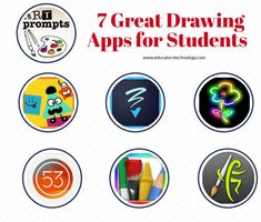 7 Great Drawing Apps for Students = Drawing is one of the best ways to unleash kids creativity and engage them in a wide variety of expressive learning experiences.