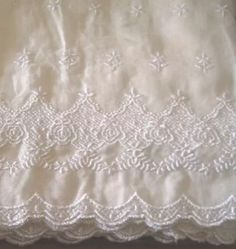 New Simply Shabby Chic White Embroidered Balloon Shade Window Curtain 60x63