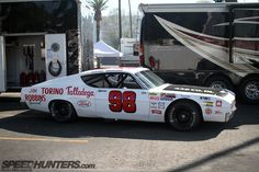 You can't go wrong with any stock car from the and but Ford's Talladega has to be one of the greatest. Ford Torino, Ford Motorsport, Nascar Race Cars, Race Engines, Old Classic Cars, Vintage Race Car, Car Ford, Ford Motor Company, Car Manufacturers