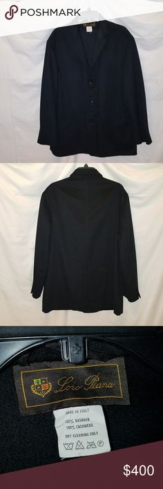 LORO PIANA SHORT COAT - 100% Cashmere Perfect condition.  Refined coat in cashmere double treated with Rain System? for a water-repellent finish. Warm yet light-weight, with a classic cut and clean line that makes it versatile and extremely wearable. Perfect for city dressing.  Size 52 (Large) Loro Piana Jackets & Coats
