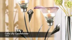 HARTSHOMEDECOR.COM...13919 - Calla Lily Candleholder ***Slender calla lilies in a sophisticated shade of pewter add Art Deco elegance to any room. A glamorous decoration that's gorgeous by day, and entrancing by night when filled with quiet candlelight!