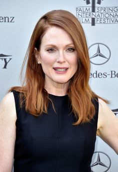 Julianne Moore's copper strands would be particularly pretty on a girl with freckles!