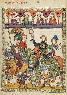 Courtly love  http://gynocentrism.files.wordpress.com/2013/09/codex_manesse_heinrich_von_breslau.jpg