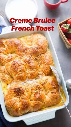 Delicious Breakfast Recipes, Brunch Recipes, Yummy Food, What's For Breakfast, Savory Breakfast, Christmas Breakfast Casserole, Creme Brulee French Toast, Royal Recipe, Breakfast Specials