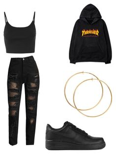 """Untitled #51"" by llupita on Polyvore featuring Tommy Hilfiger, Topshop and NIKE"