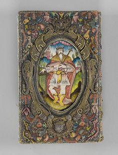 The New Testament, The Book of Common Prayer (back cover) | British | 1636 | silk, bullion, silver, satin | Metropolitan Museum of Art | Accession #: 64.101.1294