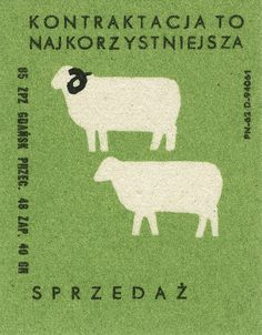 contracting is the most advantageous sale polish matchbox label by maraid Vintage Labels, Vintage Posters, Graphic Design Illustration, Graphic Art, Matchbox Art, New Year Card, Illustrations And Posters, Sheep, Design Inspiration