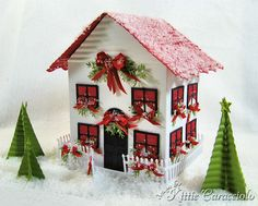 Snowy Christmas House by kittie747 - Cards and Paper Crafts at Splitcoaststampers