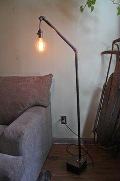 Pipe lamp - bulb just hangs
