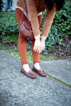 Pretty fall palette with trim lines and silhouette. The loafers are definitely the highlight for me, though. :) #oldmanchic