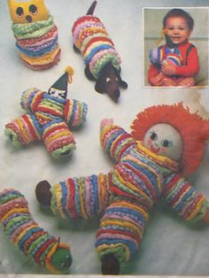 Vintage YOYO TOYS Sewing Pattern Doll Clown Dog Caterpillar I have this pattern~maire Doll Crafts, Sewing Crafts, Sewing Projects, Rag Quilt Patterns, Sewing Patterns, Vintage Patterns, Caterpillar Toys, Yo Yo Quilt, Creation Couture