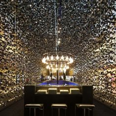 "Singapore luxury watch pop-up store  ""creates the effect of falling crystals"""