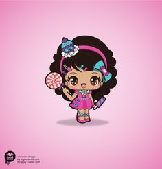 A branding package and visual identity makeover commissioned by Jazzy's Sweet Stuff, an online seller of cute accessories for kids.The mascot character is based on her daughter, Jazzy. Kawaii Love, Kawaii Girl, Cute Elephant Cartoon, Cute Cartoon, Kawaii Chibi, Anime Chibi, Cute Wallpaper Backgrounds, Cute Wallpapers, Cartoon Drawings