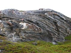 A wave-like geologic structure that forms when rocks deform by bending instead of breaking under compressional stress. Anticlines are arch-shaped folds in w