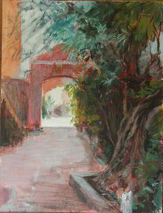Hacia el Patio Patio, Painting, Art, Gardens, Art Background, Painting Art, Kunst, Paintings, Performing Arts