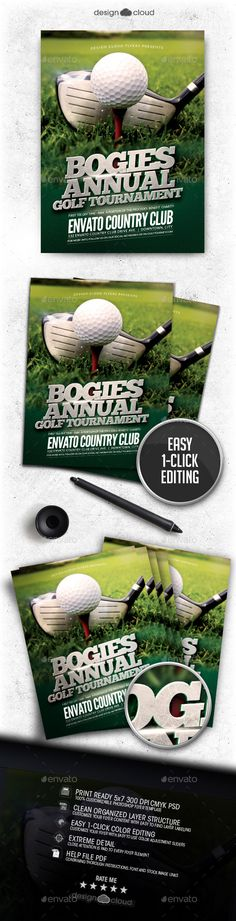 Golf Tournament Flyer Template - No Model Required Download The - golf tournament brochure