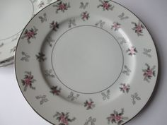 Vintage Japan China Rosemere Pink Gray Floral by thechinagirl, $34.50 #weddings #vintage