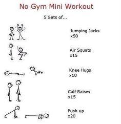 No gym mini workout - #Fitness, #Gym, #Workout