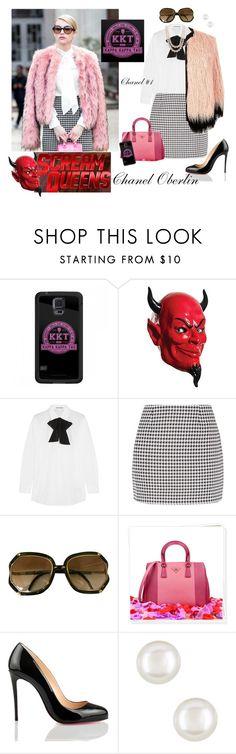 """Scream Queens"" by kathleensmith-i ❤ liked on Polyvore featuring Acne Studios, Fashion Union, Prada, Christian Louboutin, Jon Richard, women's clothing, women's fashion, women, female and woman"